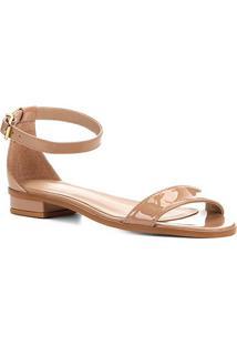 Sandália Shoestock Flat Tira Naked Feminina - Feminino-Noz