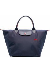Longchamp Bolsa De Mão Le Pliage Média - Azul