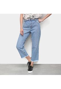 Calça Jeans Cantão B Boy Cós Virado Feminina - Feminino