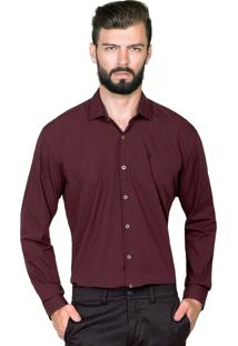 Camisa Hugo Rossi Micro Listra Bordô