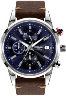 2bc49e33dfa ... Relógio Akium Masculino Couro Marrom - Tmg6345N1-Pnp-Strap