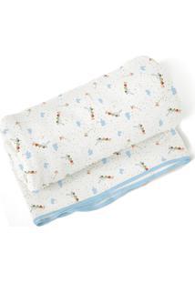 Cobertor Papi Para Menino Em Algodão 70 X 90Cm - Kanui