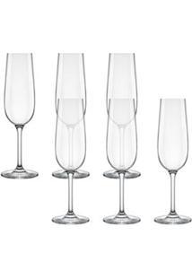 Conjunto De Taças Para Champagne Carpe Diem 200Ml 6 Peças - Nadir