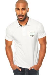 Camisa Polo Zebra Marine Branca