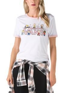 Camiseta Vans X Peanuts Dance Party Ringer Feminina