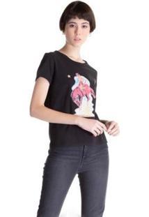 Camiseta Levis Graphic Ringer Surf Feminina - Feminino-Preto