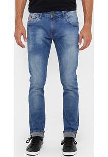 Calça Jeans Forum Gilmar Indigo Bord Masculina - Masculino