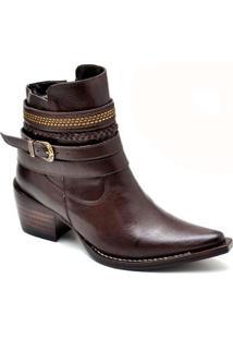 Bota Top Franca Shoes Country - Feminino-Marrom