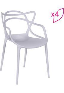 Jogo De Cadeiras De Jantar Solna- Branco- 4Pã§S- Or Design