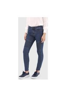 Calça Jeans Vero Moda Skinny Pespontos Azul
