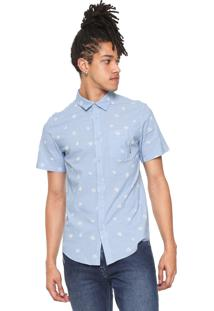 Camisa Billabong Reta Sunday Mini Azul