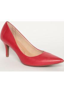 Scarpin Liso- Vermelho- Salto: 7Cmmya Haas