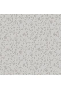 Papel De Parede Arabescos Florais- Cinza & Bege Escuro