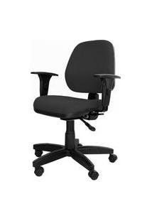 Cadeira Corporate Executiva Cor Preto Com Base Nylon - 43974 Preto