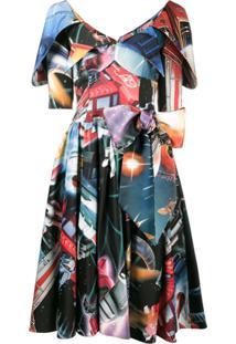 Moschino Vestido Com Estampa Espacial - Estampado