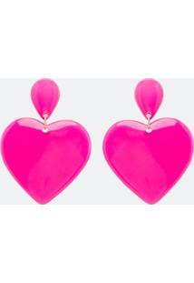 Brinco Maxi Com Pingente Coração