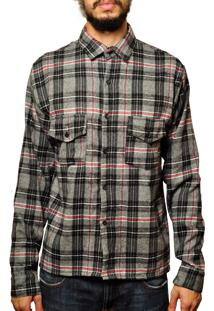 Camisa Andy Roll Clothing Flanela Gree Tee Cinza