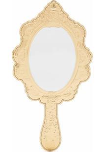 Moschino Clutch Dourada Em Forma De Espelho - Metálico