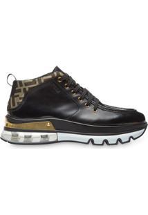 Fendi Ankle Boot Com Cadarço - Preto