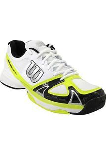 Tenis Masculino Rush Evo Branco/Verde 39 - Wilson