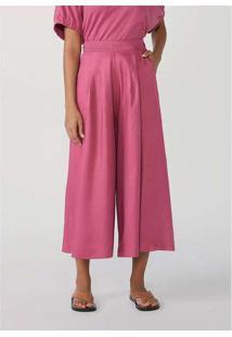 Calça Feminina Wide Leg Mini Me Rosa