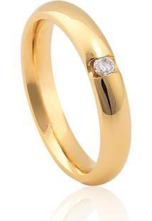 Aliança De Casamento Em Ouro 18K 3,5Mm Anatômica
