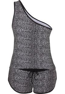Pijama Conjunto Em Cotton Rmb Lingerie Onça Branco