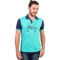 cd5ca9a6d Camisa Polo England Polo Club Estampada - Masculino-Verde