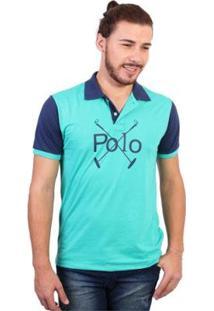 Camisa Polo England Polo Club Estampada - Masculino-Verde