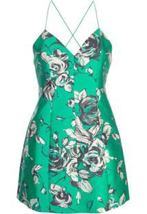 Alice+Olivia Vestido Moletom Com Estampa Floral - Verde