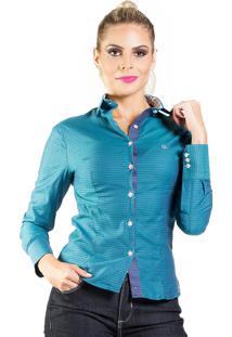 Camisa Carlos Brusman Slim Azul