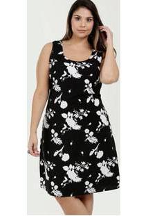 b50632636 ... Vestido Feminino Estampa Floral Plus Size Sem Mangas Marisa