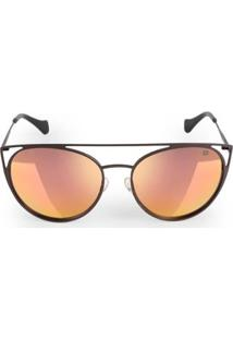 Óculos Euro Feminino Recortes Metalizados - Feminino-Dourado