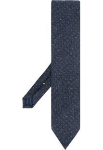 Eton Gravata Com Bordado - Azul