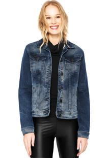 Jaqueta Calvin Klein Jeans Básica Azul