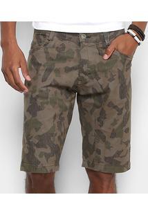 Bermuda Gangster Sarja Camuflado Masculina - Masculino