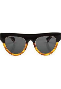Óculos Alexa Solar Preto + Demi Ruivo Livo Eyewear Feminino - Feminino-Preto+Marrom