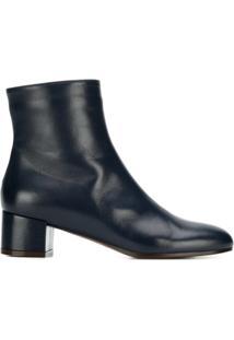 L'Autre Chose Ankle Boot Com Salto Bloco - Azul