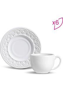 Jogo De Xícaras De Chá Cestino- Branco- 6Pçs- 16Porto Brasil