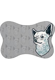 Tapete Pet Mdecore Chihuahua Cinza 46X33Cm