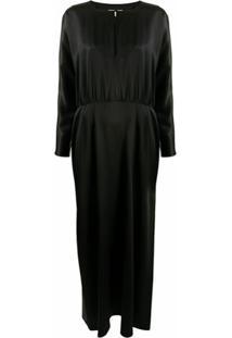 La Collection Vestido De Cetim De Seda - Preto
