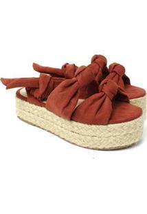 Sandália De Cordas Damannu Shoes Emma Feminina - Feminino-Bordô
