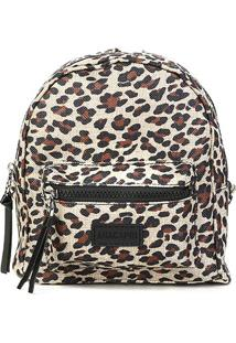 Bolsa Anacapri Mini Bag Med Lona Animal Print Onça Feminina - Feminino-Onça