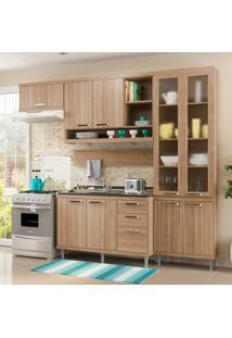 Cozinha Compacta Sem Tampo 5 Peças Sicília 5816-S9 - Multimóveis - Argila Acetinado