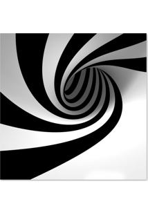 Quadro Abstrato Espiral Uniart Preto & Branco 45X45 Cm