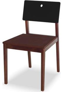 Cadeira Flip Cor Cacau Com Encosto Preto - 30837 - Sun House