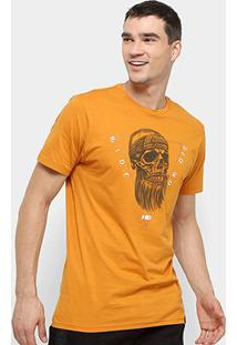 Camiseta Hd Estampada Masculina - Masculino-Laranja
