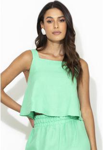 Blusa Linho Verde