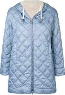 Max Mara Reversible Hooded Jacket - Azul