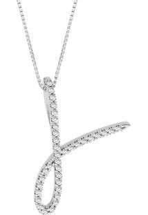 Pingente Em Ouro Branco 18K Com Diamante - Dance